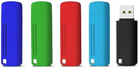 KEXIN 16GB USB Pendrive 5 Unidades Memoria Flash USB Drive 2.0 con Tapas para Computadoras PC Windows Mac OS: Amazon.es: Informática