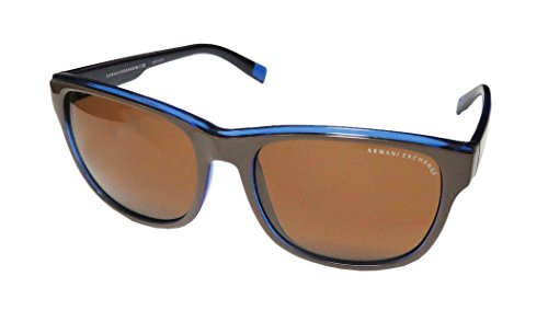 Armani Exchange 4036 Mens/Womens Designer Full-rim 100% UVA & UVB Lenses Sunglasses/Eyewear (57-17-140, Brown / - Sunglasses Armani Blue