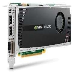 HP WS095AA - Tarjeta gráfica (Quadro 4000, 2560 x 1600 Pixeles, NVIDIA, 2 GB, GDDR5-SDRAM, 256 Bit)