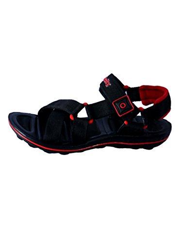 Triqer Black Red Sandals for men( size 7 induk)