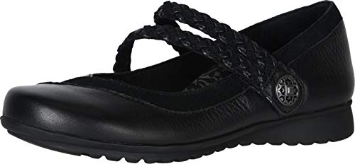 Ada Braided Mary Jane BLK W38 - Shoes Aetrex Black