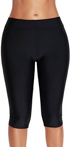 Nero Puro Bagno Accessori Costumi da Colore da Donna Piscina Pantaloni Nero Bettydom Nuoto 6OCqvPw