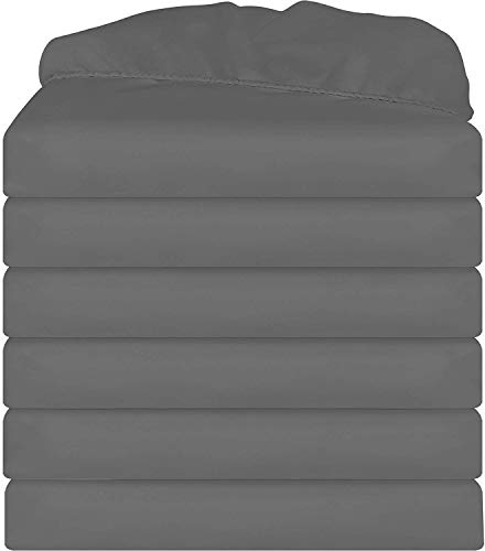 Utopia Bedding 6 Pack Fitted Sheets (King, - Fitted Elastic Sheets