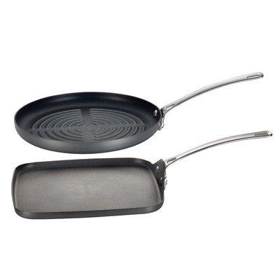 Genesis 2-Piece Non-Stick Grill Pan Set by Circulon