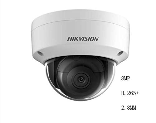 - Hikvision 8MP Dome Camera DS-2CD2185FWD-IS 2.8mm 8MP Mini IR Fixed Dome Network Camera 3-axis POE IP67 ONVIF H.265 English Version IP Camera