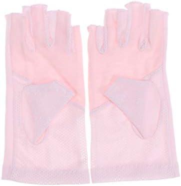 HEALIFTY Halbfingerhandschuhe Rutschfeste Handschuhe Reitschutzhandschuhe für Damen Pink