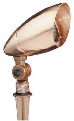 Malibu Lighting CS180C Malibu Landscape Lighting, 20W Low Voltage Canterbury Directional Light - Intermatic Copper Bulb