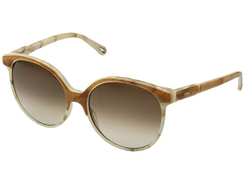 Chloe Women's Quilly - CE733SL Amber/White Marble One - Sunglasses Chloe White