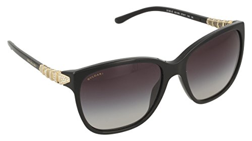 Bvlgari 8136B 501/8G Black 8136B Wayfarer Sunglasses Lens Category - Bvlgari Glasses Womens