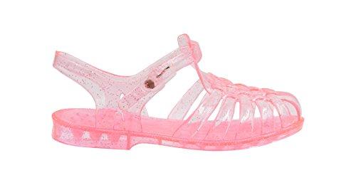 Sara Z Toddler Girls Jelly Strap Translucent Glitter Fisherman Sandals 11/12 Light Pink