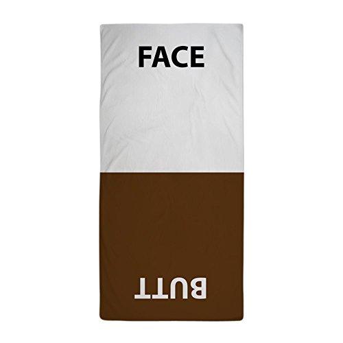 Towel Face Beach (CafePress - Face/Butt Towel - Large Beach Towel, Soft 30
