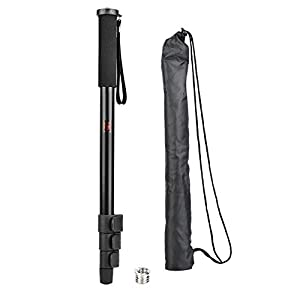 RetinaPix Retractable monopod, Support Rod for Portable 3kg Metal Selfie with 1/4 to 3/8 inch Screw for SLR Camera, mirrorless Camera(P264A)