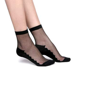 Women's Accessories Socking & Pantyhose & Legging - Women Ultrathin Breathable Cotton Lace Low Cut Non Slip Sock High Sesilience - 1