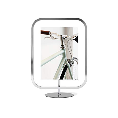Umbra Infinity Picture Frame, Floating Photo Display for Desk or Wall, 5x7, Chrome
