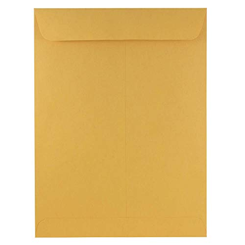 JAM PAPER 9 x 12 Open End Catalog Premium Envelopes - Brown Kraft Manila - - Catalog End Open Brown Kraft