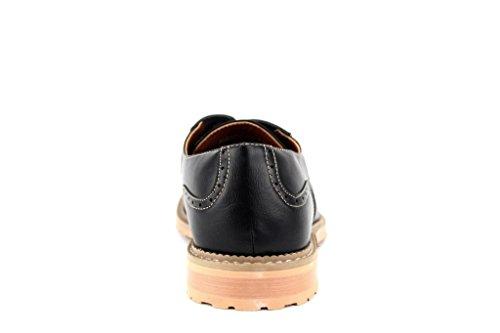 Ferro Aldo Mens 19385le Punto Contrasto Casuale Punta Arrotondata Scarpe Oxford Traforate Nere
