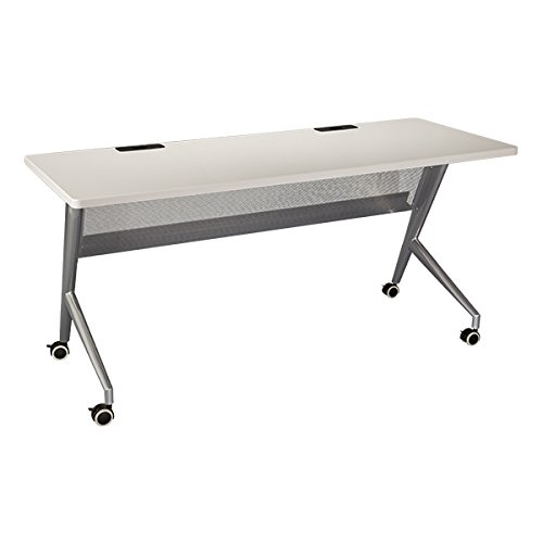60 W x 24 D Learniture 3000 Series Mobile Computer Table with USB and Power LNT-TSU3018GRW2EC-PK-SO Gray