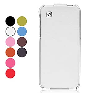 Buy High-class Flip Up And Down Solid Color Lichee Pattern PU Leather Full Body Case for iPhone 5/5S (Assorted Colors) , Pink