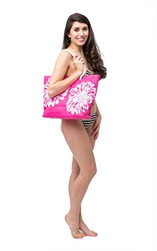 de de Rosa la grande flor Mujer Azul Airee Diseño Playa Bolsa Para Fairee OqgwdOX6