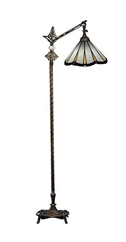 Dale Tiffany Lamps STF17094 Slade Directional Down Bridge Tiffany Floor Lamp - Dale Tiffany Mission Floor Lamp