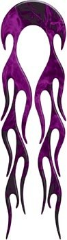 "Used, Motorcycle Fender Inferno Purple Flame decal - 21.5"" for sale  Delivered anywhere in USA"