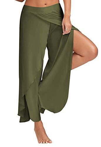 da verde Gym Fitness Pantaloni FITTOO Larghi Yoga Sport Pants Harem Donna per qEn6PznwBx