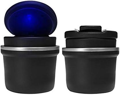 カバー/LEDの軽い車の灰皿のコップのホールダーが付いている携帯用管状の無煙車のタバコの灰の円柱(サイズ:7 * 8.5cm)