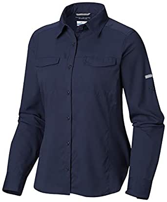Columbia Women's Silver Ridge Lite Long Sleeve Shirt, UV Sun Protection, Moisture Wicking Fabric, Nocturnal, Small