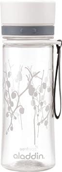 Aladdin Aveo - Botella de agua para niños, color Blanco, capacidad: 0,6 L