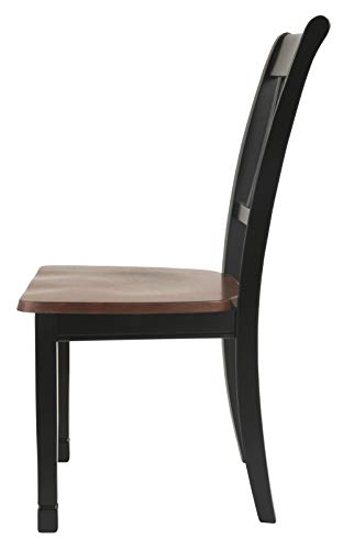 Ashley Furniture Signature Design - Owingsville Dining Room Side Chair - Latter Back - Set of 2 - Black-Brown by Signature Design by Ashley (Image #3)