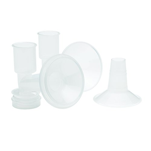 Ameda Purely Yours Bpa - Ameda CustomFit Breast Flanges Medium/Large, 2-30.5mm Flanges with Insert, Extra Flanges for Better Sizing and More Comfortable Pumping, Fits Ameda Breast Pump Kits