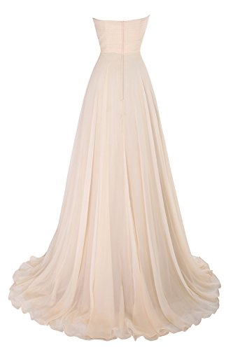 Evening Dress Chiffon Formal Long With Dora Royal Blue Pleated Bridal Women's Ruffles YWqgF