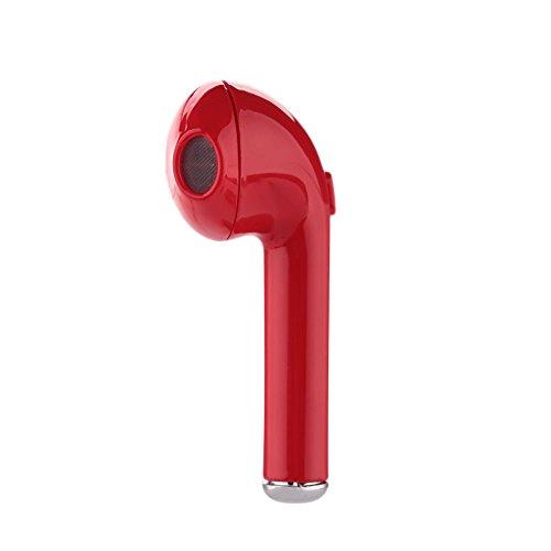 Cewaal Bluetooth Earbud Mini Wireless Headset In-Ear Earphone for iPhone 7/7 plus 6s/6s plus Samsung (single left ear) (Channel 10 News Halloween)