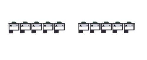 10/Pack 16 Black ink cartridges for Lexmark Compatible with: Color Jet Printer Z34 Z35 Z515 Z2600 Color Jet Printer i3 Z13 Z23 Z24 Z25 Printrio X1155 X1160 X1170 X1180 X1190 (Jet Printer Z13)