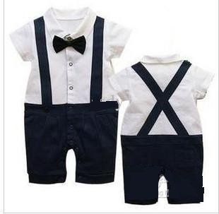 b3da132f207 Baby Boy Gentleman Dickie Bow Romper Suit 12-18 months  Amazon.co.uk  Baby