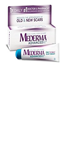 Mederma Advanced Scar Gel - 1x Daily: Use less, Save more - Reduces the Appearance of Old & New Scars - #1 Doctor & Pharmacist Recommended Brand for Scars -0.7 oz.