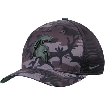 (Nike Michigan State Spartans Anthracite Meshback Camo)