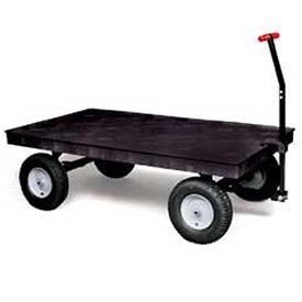 Rubbermaid-Commercial-5th-Wheel-Wagon-Platform-Truck-with-12-Inch-Pneumatic-Wheels-2000-Pounds-Capacity-70-Inch-Length-X-40-Inch-Width-Black-FG9T0700BLA