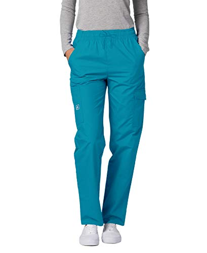 Adar Universal Natural-Rise Multipocket Cargo Tapered Leg Pants - 506T - TBL - M Teal Blue