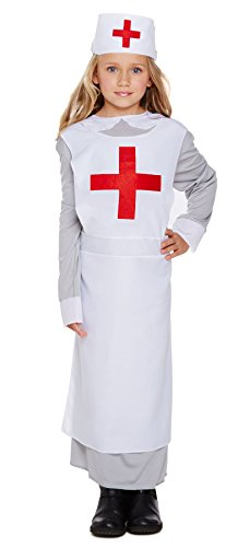 WW1 Nurse Fancy Dress Costume Age 7-9 Years (Nurse Costume For Kids)