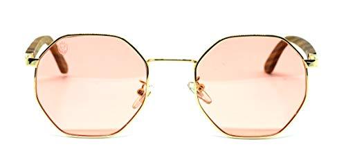 Óculos De Sol De Madeira E Metal Opal Pink, MafiawooD