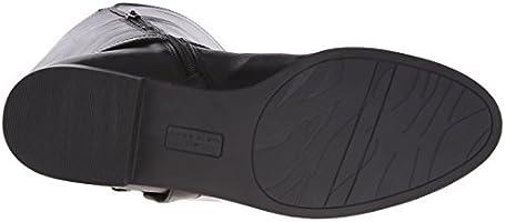 a3d04599c95 Anne Klein Women's Kahlan Wide Calf Leather Riding Boot, Black, 5 M ...