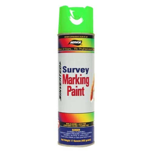 Aervoe Marking Paint (Aervoe 224 Fluorescent Survey Marking Paint, Aerosol 17 Ounce (Green))