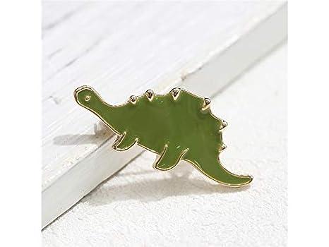 XeibD Moda Cute Dinosaur Spilla Corpetto animale Corpetto da sposa Spilla per i regali delle donne (Verde)