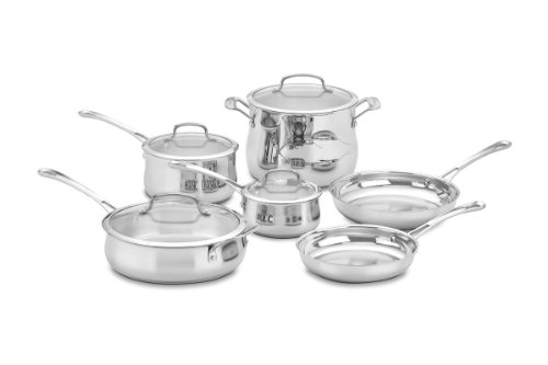 Cuisinart 44-10N Contour Stainless 10-Piece Cookware Set (Cuisinart Mcp Saute Pan compare prices)
