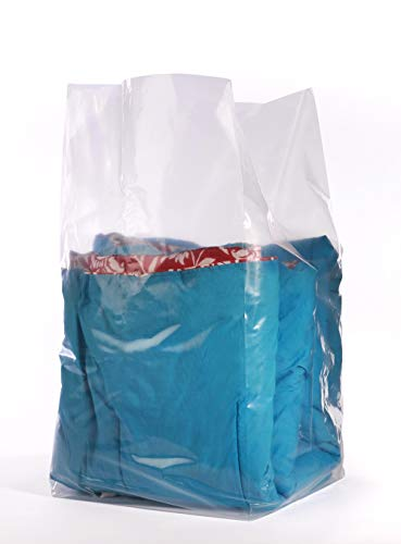 APQ Pack of 250 Gusset Bags, Clear 18 x 16 x 40. Plastic Expandable Bags 18x16x40. FDA Approved, 1.50 mil. Polyethylene Bags for Industrial, Foodservice, Healthcare Needs. from APQ Supply