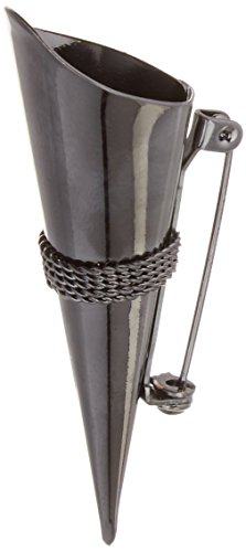 Darice VL1162-13, Lapel Pin Vase with Braid Trim, Black]()