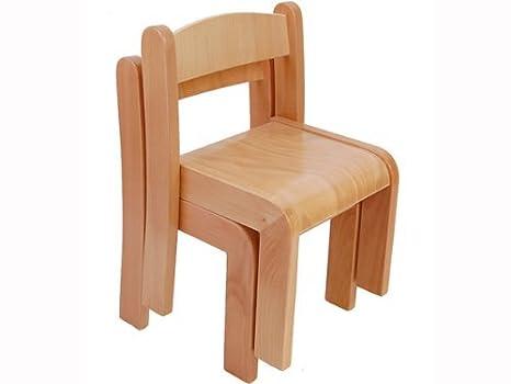 Amazon.com: Sillas de madera de haya Straight Back (Set de 2 ...