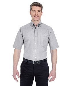 (ULTRACLUB 8972 UltraClub Men's Classic Wrinkle-Free Short-Sleeve Oxford 8972-simple , Charcoal (60/40) , XX-Large)