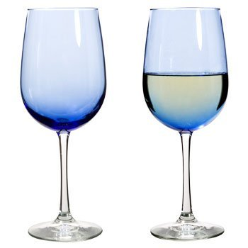 (The Boutique Famous-maker Cobalt Blue Wine Glasses Goblet 1- 18.5 Oz. by THE CHRISTMAS BOUTIQUE)